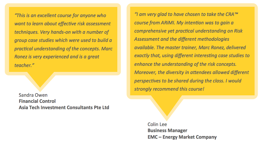 Testimonials for ARiMI CRA Certification