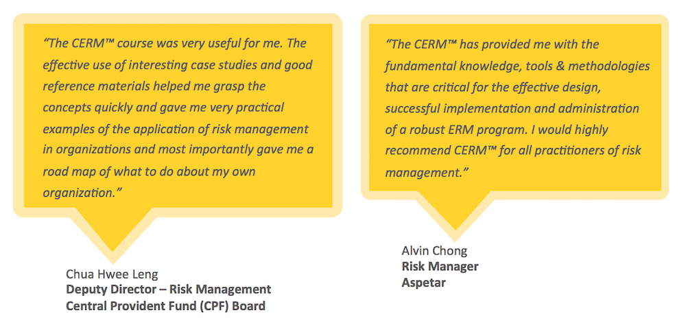 Testimonials for ARiMI CERM Certification