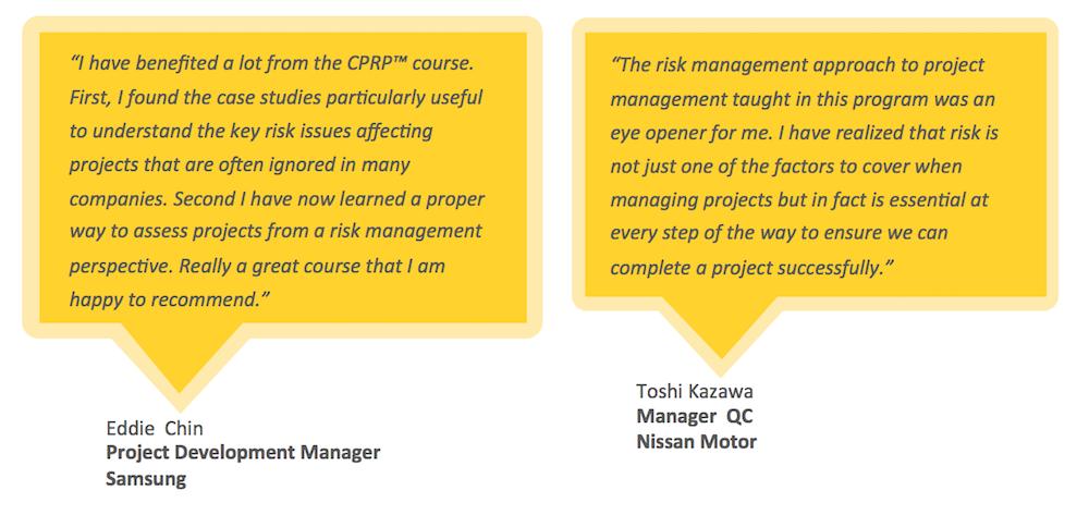 Testimonials for ARiMI CPRP Certification