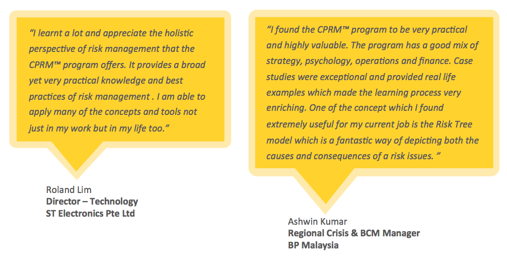Testimonials for ARiMI CPRM Certification