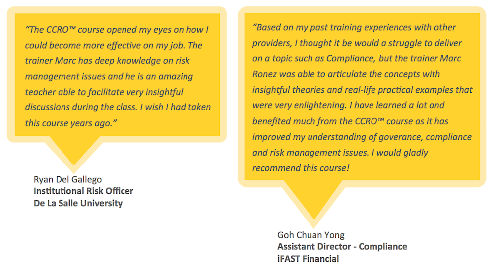 Testimonials for CCRO Certification